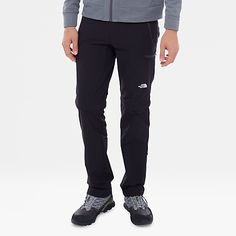 3add2689db Men's Exploration Convertible Trousers Running Tights, The North Face,  Climbing, Convertible, Black