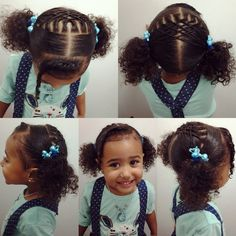 Little girls hairstyle Valentine's Day Hairstyles, Baby Girl Hairstyles, Hairstyles For School, Kid Braid Styles, Kid Styles, Natural Kids, School Hair, Braids For Kids, Amazing Hair