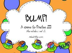 Bump! A Game to Practice Sixteenth Notes for the Kodaly and Orff Elementary Music Classroom