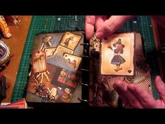 ▶ Halloween Album using Graphic45 Alice In Wonderland Halloween Papers .UK -Irelandcraftswaps - YouTube