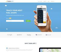Free Bootstrap Tank App Template - Flat Responsive Web template