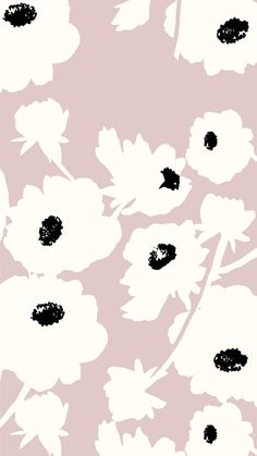 [ blush background with black and white floral design ] Simple Iphone Wallpaper, Of Wallpaper, Pattern Wallpaper, Wallpaper Backgrounds, Kate Spade Wallpaper, Summer Wallpaper, Textures Patterns, Print Patterns, Pretty Wallpapers
