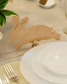 "Add a touch of whimsy to your Easter brunch table with these easy and adorable decorations, as seen on ""The Martha Stewart Show."""