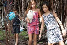 Munster kids summer 2013 girlswear has tropical influenced textiles.