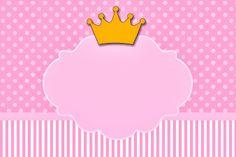 Coroa Princesa – Kit Completo com molduras para convites, rótulos para guloseimas, lembrancinhas e imagens! |Fazendo a Nossa Festa