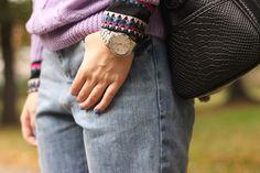 Casio watch. More: http://www.lubieczern.pl/2014/10/wrzosowy-sweter.html