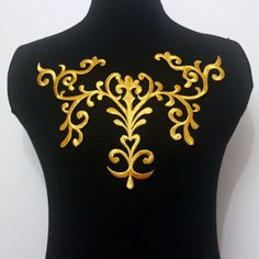 1Pcs Pattern Gold Metallic Embroidery Applique/Patch Motif Sew On & Iron On