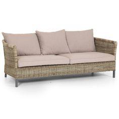Menorca soffa 3-sits med beige dyna