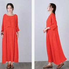Women bat sleeve loose pullover polyester dress