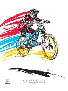Céline GROS Downhill Champion Artworks BOUL