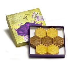 Pre de Provence The Queen's Honey 7 x 25g Honey Hexagon Guest Soaps in Gift Box: $15.00