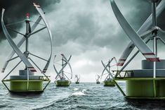 """Floating Gyro-Stabilized VAWT to Be Tested in Norway (VIDEO) - """"A model of a floating gyro stabilized Vertical Axis Wind Turbine (VAWT) for offshore and near-shore applications, which is called Gwind, will be tested in the harbor of Stavanger this autumn, according to the Norwegian Centre for Offshore Wind Energy (NORCOWE)."""":"""