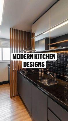 Kitchen Cupboard Designs, Kitchen Room Design, Modern Kitchen Design, Home Decor Kitchen, Interior Design Kitchen, Small House Interior Design, Dark Kitchen Cabinets, Studio Interior, Kitchen Ideas