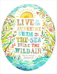 Live - Another quote for the nursery wall; maybe in 3 different frames
