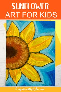 These chalk pastel sunflowers are so colorful and beautiful! Kids will learn easy chalk pastel techniques to create this fun sunflower art project! Chalk Pastel Art, Chalk Pastels, Chalk Art, Soft Pastels, Sunflower Crafts, Sunflower Art, Thanksgiving Art Projects, Kandinsky Art, Sunflower Drawing