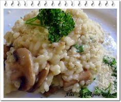 Jedlíkovo vaření: Krémové rizoto se žampiony Bon Appetit, Vegan, Ethnic Recipes, Risotto, Savory Snacks, Diet, Vegans
