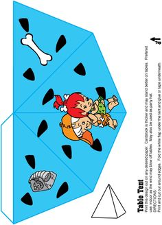 Flintstones printable Pebbles & Bamm Bamm Party Table Top Tent