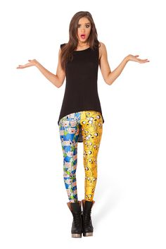 Finn and Jake Leggings by Black Milk Clothing $85AUD