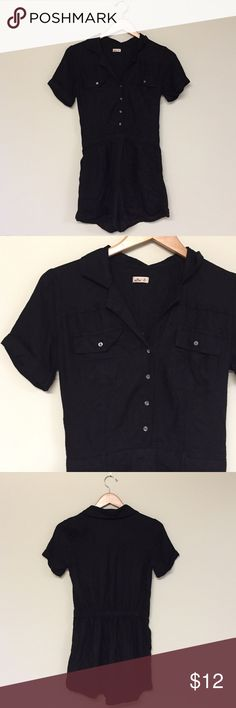 Black button up romper Black button up romper new never worn. Other