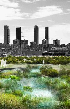 "Tempearture flooding. Microclimates. ""Madrid + Natural"". Image © Arup."