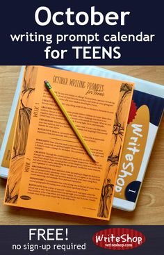 With 20 writing prompts for grades 7-12, this free printable calendar gives your teen a daily journal topic for the whole month of October.