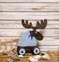 """Купить Лось """"МОРЯЧОК"""" - интерьерная игрушка, подарок, подарок на любой случай, подарок на новый год"""