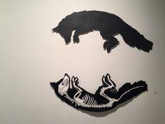 """Kathryn Hunter, """"Reflection,"""" 2015, laser cut steel, wool, sewing"""