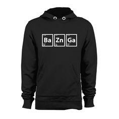 Bazinga Hoodie High Quality PRINT Retail Quality UNISEX