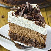 Triple chocolate Receta Mousse Cake