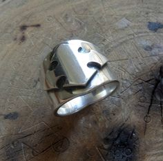 Mens ring. Sterling silver rings. Cross ring. Male by shmukies