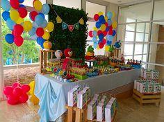 Mesa decorada por Lilian Ruas, da Tribo da Festa www.tribodafesta.com.br  #festainfantil #mesadecorada #angrybirds