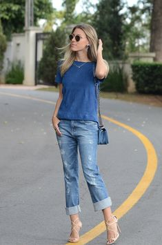 Meu Look: Blue All Over Meu Look La Chica De Oro Jeans blue  glam4you