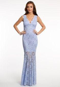 Sequin Lace Illusion Dress   Camillelavie.com #pastel #pretty #dresses #fashion #camillelavie