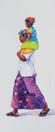 KYNKYNY is an online gallery that showcases a curated selection of original artworks by emerging and established Indian artists at affordable prices. Human Figure Sketches, Figure Sketching, Indian Artwork, Indian Art Paintings, Indian Artist, Fathers Love, Realistic Paintings, Online Gallery, Mosaics