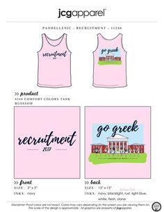 JCG Apparel : Custom Printed Apparel : Panhellenic Recruitment T-Shirt #panhellenic #recruitment #gogreek #sisters #sisterhood #handdrawn #lylas