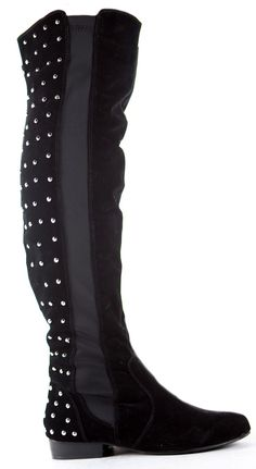 Winter Over Knee Flat Stretch Low Heel Wide Calf Thigh High Knee Boots