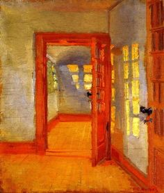 """Baga — forevernoon: Anna Ancher """"Interior"""", 1903 Via. Classical Art, Art Gallery, Female Painters, Painter, Painting, Woman Painting, Illustration Art, All Art, Art Inspiration"""