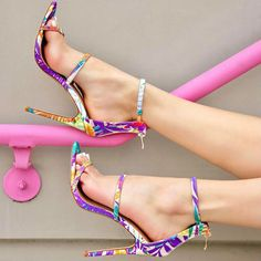 Open Toe Strap Stiletto Sandals