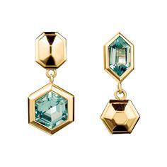 Topaz Puzzle Earrings by Tessa Packard London
