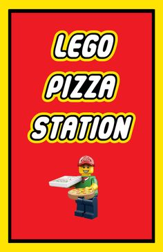 Lego Party Food Station Sign 11x17 Lego Pizza Station