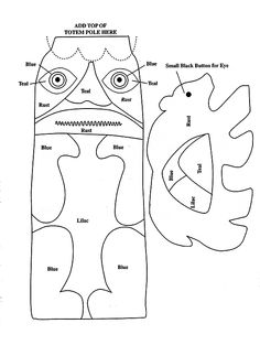 PIN THIS Pacific Northwest Native American style Totem Pole Craft ...