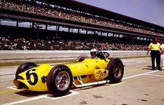 """1963 - Bobby Unser's (#6) """"Hotel Tropicana Special"""" Novi Roadster - Qualified 16th, Speed (149.421 mph). Finished 33rd, Crashed Turn 1, Lap 2"""