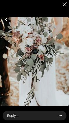 Gorgeous wedding bouquet, love the rose gold roses and details! Wedding Goals, Wedding Bride, Floral Wedding Decorations, Table Decorations, Bouquet En Cascade, Sage Green Wedding, Spring, Pink Roses, Paper Flowers