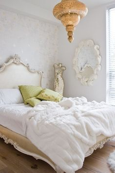 Walls, headboard, bedspread, everything together