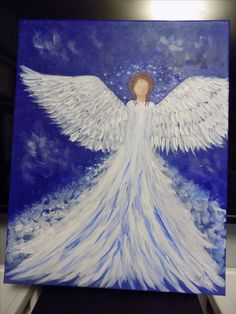 He Has Given His Angels Charge Over You 16X20   UNAVAILABLE This has a wonderful amt of texture on the wing and gown Unavailable