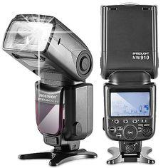 CLONE du SB-910 !!! 90€ !!! Neewer® NW910 I-TTL HSS 1/8000 s LCD Affichage Maître Esclave Flash Speedlite pour D3000 D3100 D5000 D5100 D7000 D7100 D7200 et Autres Nikon DSLR Caméras Kit Comprend: 1x NW910 Flash+ 1x Diffuseur de Flash Dur et Mou