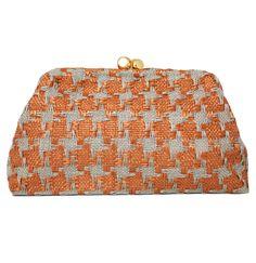 Maria La Rosa Rafia Rust Bag