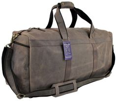 GLBS 24' Mens Vintage Leather Weekender Carry On Luggage Gym Duffel Travel Bag >>> Want to know more, click on the image.