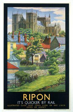 YORKSHIRE Ripon, LNER poster, c 1930.