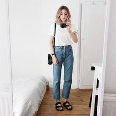Trendy How To Wear Birkenstock Outfits Simple 33 Ideas Look Fashion, Fashion Outfits, Womens Fashion, Fashion Trends, Birkenstock Outfit, Birkenstock Fashion, Summer Outfits, Casual Outfits, Look Man